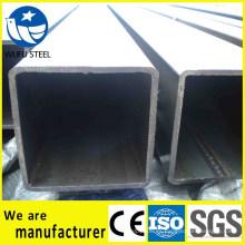 Tubo de acero cuadrado hueco GB / T6728 SS400
