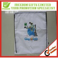 Le plus populaire sac à cordon de promotion de Sublimation de polyester de la meilleure vente