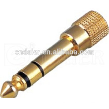 Daier Competitive Price Gold Plated 6.35MM Audio Jack