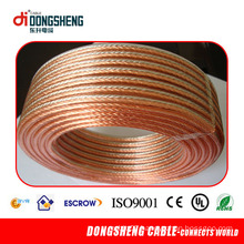 High Quality 100ft Twin 16AWG Clear Speaker Wire