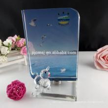 Marco giratorio de fotos de cristal para la decoración del hogar y la oficina
