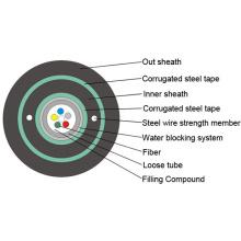 2/4/6/8/1012 / Cores GYXTW Cable de fibra óptica de un solo modo al aire libre