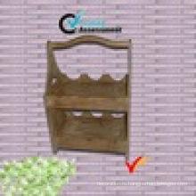 2 уровня ручной винтаж деревянные винные полки
