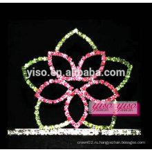 Очаровательный цветок алмаз украшения для волос маленькая тиара