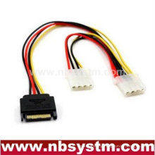 SATA 15pin to 6pin PCI express card power cable