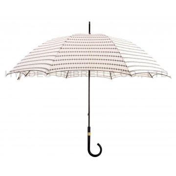 Ladies Manual Open Straight Umbrella Dengan Pico Lace