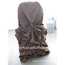 Luxo !!! chocolate marrom escuro cor da tampa da cadeira de cetim, tão fascinante, estilo de casamento
