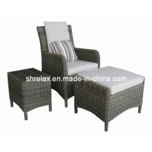 Cadeira de Causal exterior mobiliário de jardim do pátio vime do Rattan