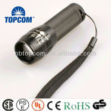 Non-slip handle zoomable cree led flashlight