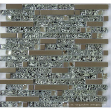 Azulejo del mosaico del metal de la mezcla de cristal (SM255)