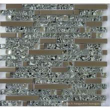 Mosaïque en mosaïque en verre mélangé (SM255)