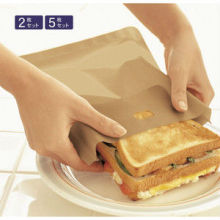high Temperature resistance plain dyed pattern non stick teflon coated toast bag