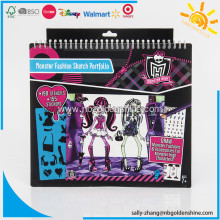 Monster High Sketch Drawing Portfolio Notebook