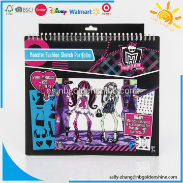 Monster High Sketch Dibujo Carpeta Cuaderno
