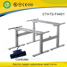 elektrisch höhenverstellbarer Büro-Schreibtisch-Rahmen, elektrisch höhenverstellbarer Schreibtisch-Rahmen & verstellbarer Computer-Schreibtisch-Rahmen für 2 Personen