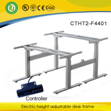 electric height adjustable office desk frame, electric height adjustable desk frame &adjustable computer desk frame for 2 people