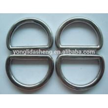 Metal D anillo de accesorios de bolsos de forma