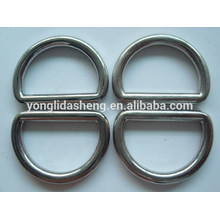 Metal D ring shape handbag fittings