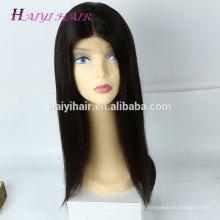 Cabelo humano brasileiro cutícula cabelo alinhado peruca cheia do laço sem cola peruca