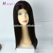 Бразильские человеческие волосы надкожицы выровняны волос полный парик шнурка бесклеевой парик