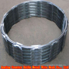 Bouquet Razor Wire / Razor Barbed Wire / Galvanized Razor Wire / PVC rasé fil rasoir / barbed ---- usine de 30 ans
