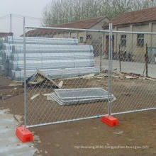 Hot DIP Galvanized or PVC Coated Chain Link Mesh Temporary with Aperture 50X50mm and 60X60mm