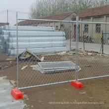 Горячее Гальванизированное погружение или звена цепи PVC покрытая сетка временным отверстие 50х50мм и 60х60мм