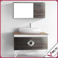 antique wooden bathroom cabinet