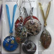 wholesale jewelry multicolor murano lampwork glass pendant