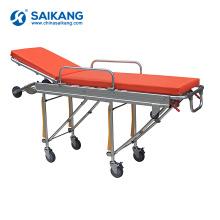 Preço paciente de aço inoxidável do trole da maca da emergência de SKB039 (d) (d)