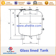 Vertical Glass Lined Storage Tank
