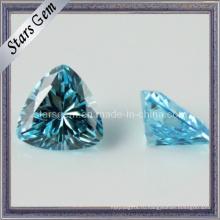 Aqua Trilliant Shape Кубический цирконий Синтетический драгоценный камень