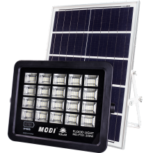 solar powered motion sensor security floodlight