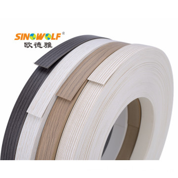 Wood-Grain  PVC Matt Edge Banding for Furniture