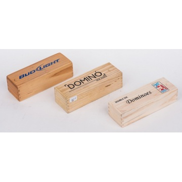 Customized Logo Dominoes Caixa de madeira