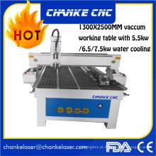 1300X2500mm 5.5kw madeira acrílico CNC máquinas