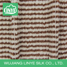 fleece white and tan micofiber corduroy fabric, compound fabric, bathrobe fabric