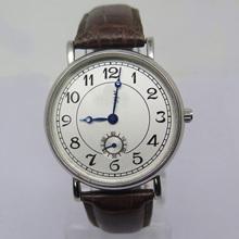 Relógio mecânico de aço inoxidável de moda feminina com segundo disco