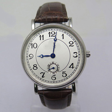 Ladies Fashion Stainless Steel Mechanical Watch with Second Disk
