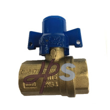 Brass locked ball valve with magnetic brass handle