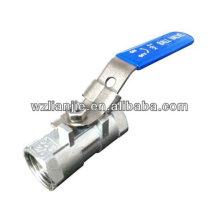 Robinet à bille en acier inoxydable 316 DN15 1PC avec dispositif de verrouillage