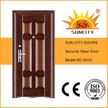 Single Door Metal Almirah Steel Door Design Exterior Door (SC-S033)