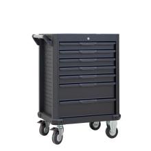 Organizador de herramientas con cajón rodante negro