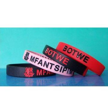 Bracelet de poignet doux en silicone à bracelet imperméable à l'eau (GZHY-SW-009)