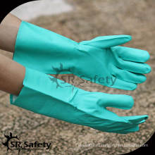 SRSAFETY Дешевые нитриловые химические рабочие перчатки