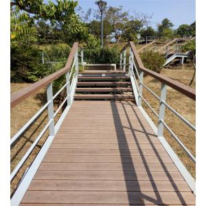 Non-Slip PS Wood Plastic Decking