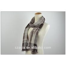 Новый твердый плед вискозы формальный мягкий шарф для мужчин