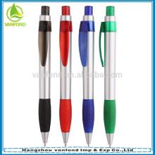 amostra grátis de 2015 personalizado logotipo promocional caneta esferográfica plástica com alça