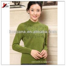 12GG que hace punto el suéter de las mujeres de la cachemira