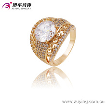 Fashion Elegant 18k Gold-Plated Women Jewelry Ring with Big Zircon -13649